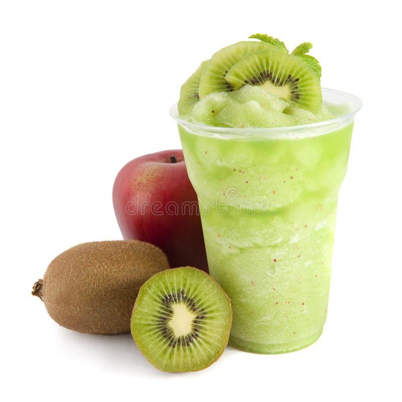 Apple and kiwi smoothie stock image