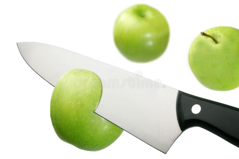 Download Apple and knife stock image. Image of kitchen, blade - 27143635