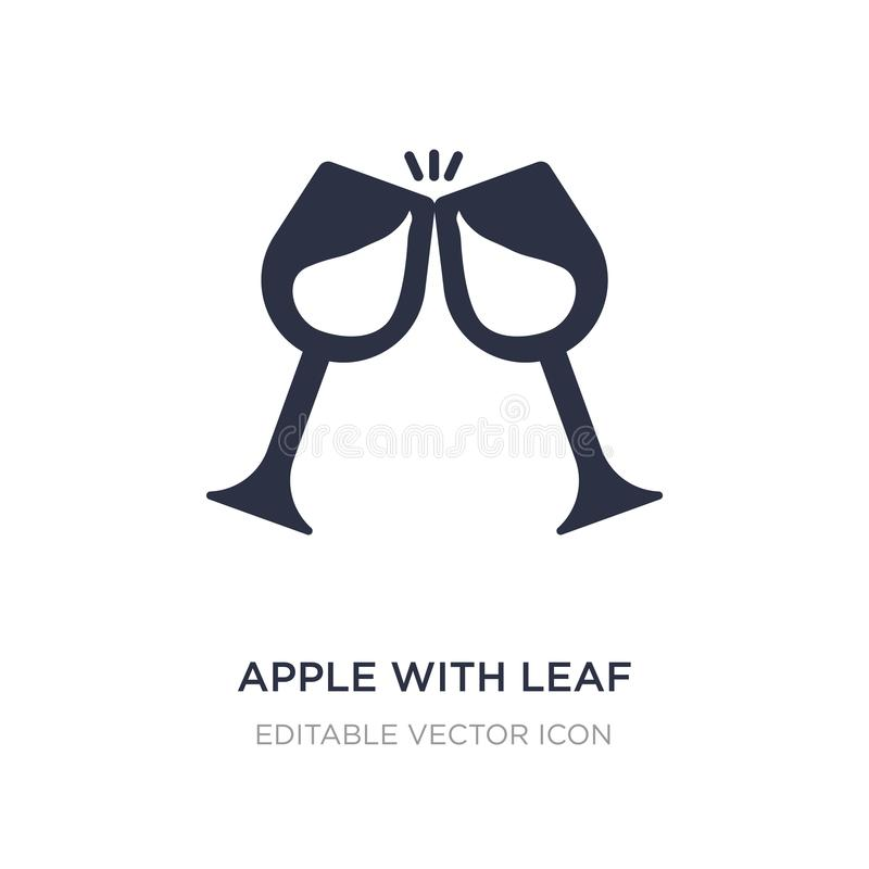 apple with leaf icon on white background. Simple element illustration from Food concept vector illustration