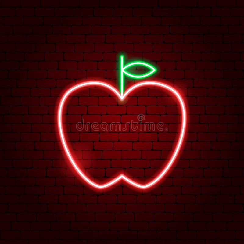Apple-Leuchtreklame stock abbildung