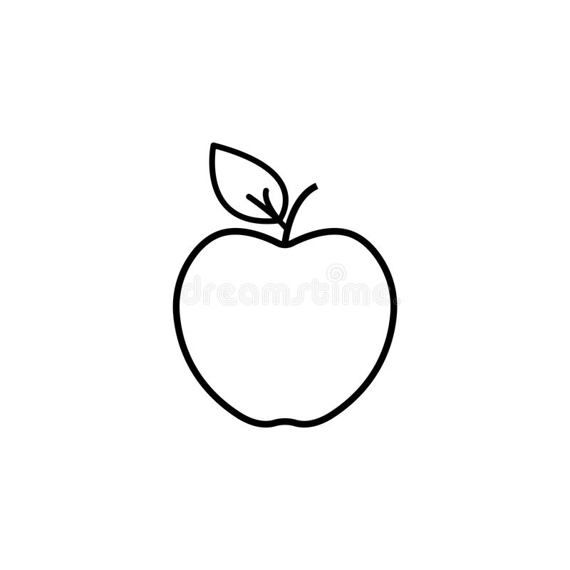 Apple linje symbol vektor vektor illustrationer
