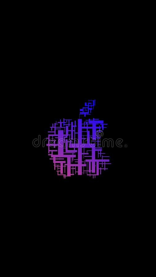 Apple logo royaltyfri illustrationer