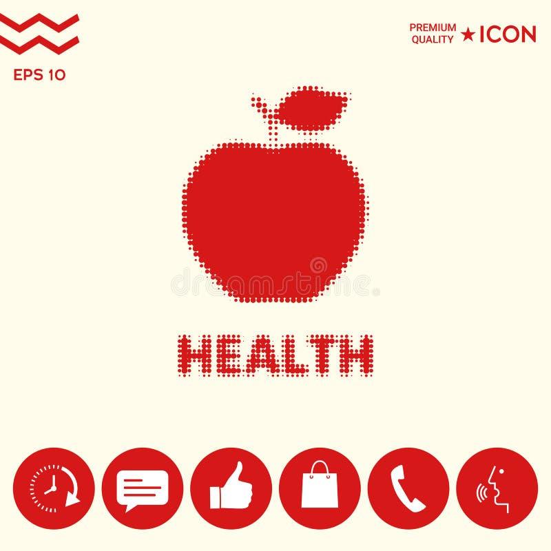 Download Apple - logo di semitono illustrazione vettoriale. Illustrazione di mangi - 117982108