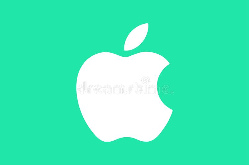 Apple Logo Editorial Vector Illustration illustration libre de droits