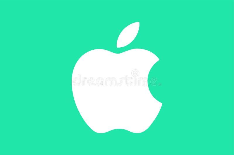 Apple Logo Editorial Vetora Illustration ilustração royalty free
