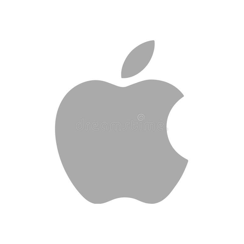 Apple Logo Editorial Vetora Illustration ilustração do vetor