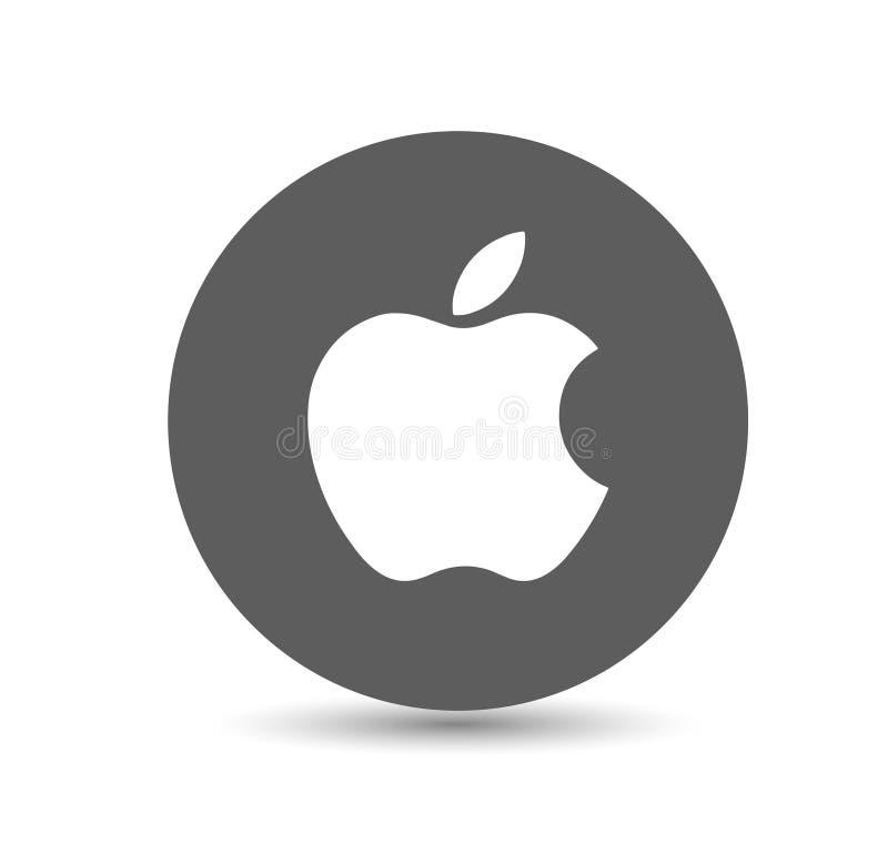 Apple logo vektor illustrationer