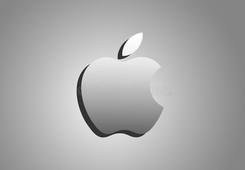 Apple logo illustrations for computers and i phone. In ai 10 illustrations royalty free illustration