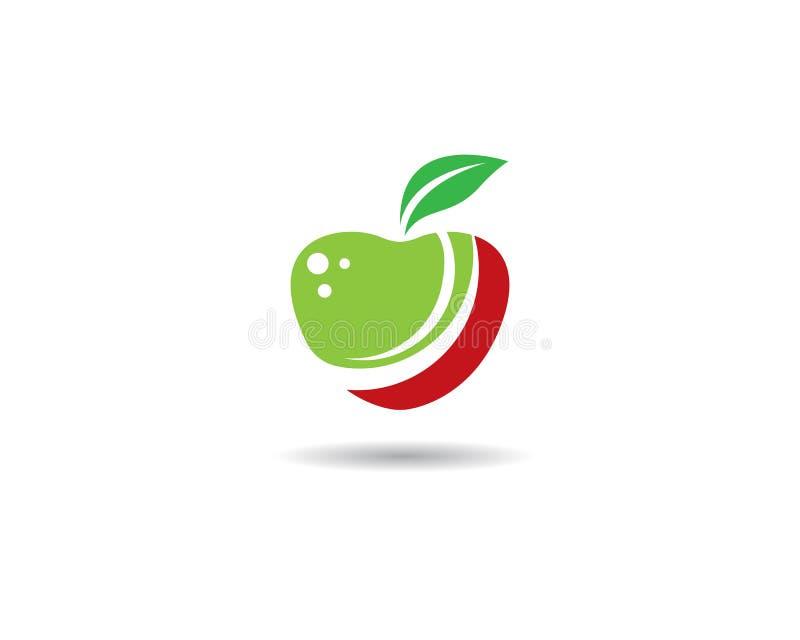 Apple logo template stock illustration