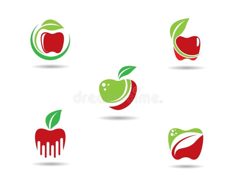 Apple logo template vector illustration