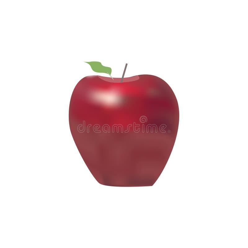 Apple logodesign Fruktlogo eller symbol vektor illustrationer