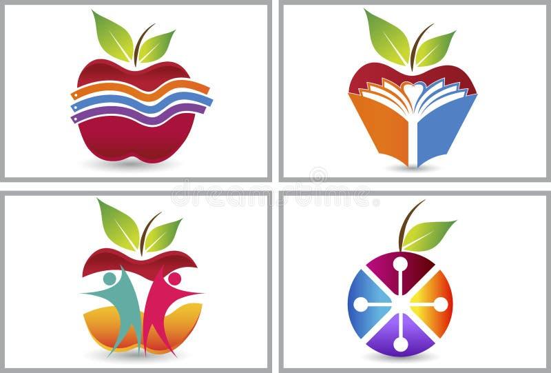 Apple logosamlingar royaltyfri illustrationer