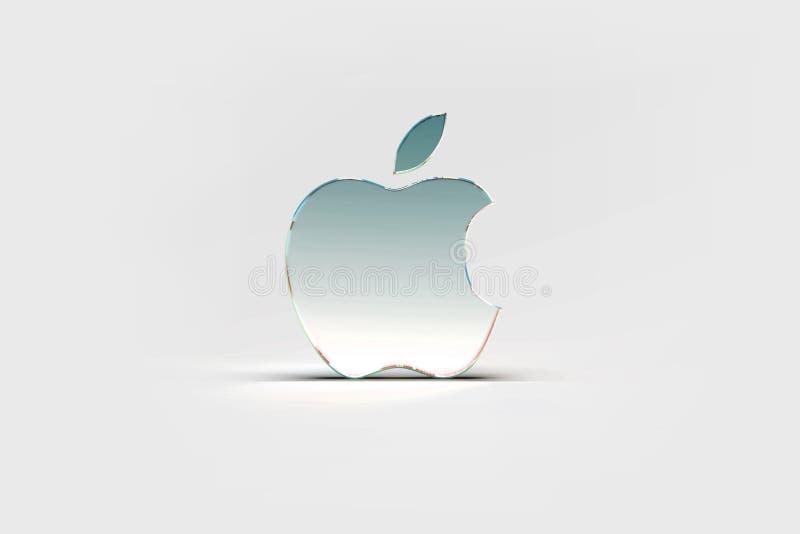 Apple logotapet, ljus bakgrund vektor illustrationer