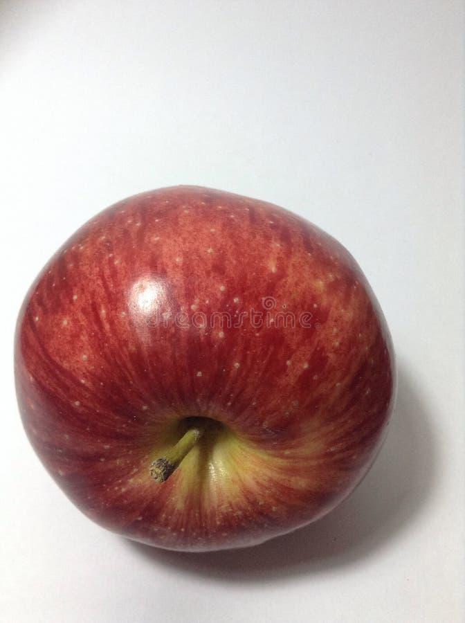 Apple lokalisierte auf Weiß stockbild
