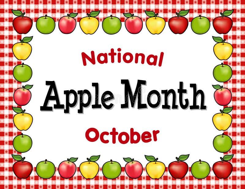 Apple-Maand, het Rode Onderleggertje van het Gingangtafelkleed stock illustratie