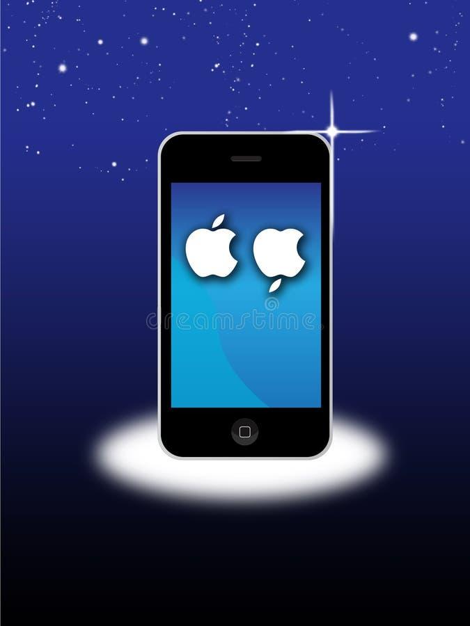 Apple Mac Iphone rouwt dood van Steve Jobs vector illustratie