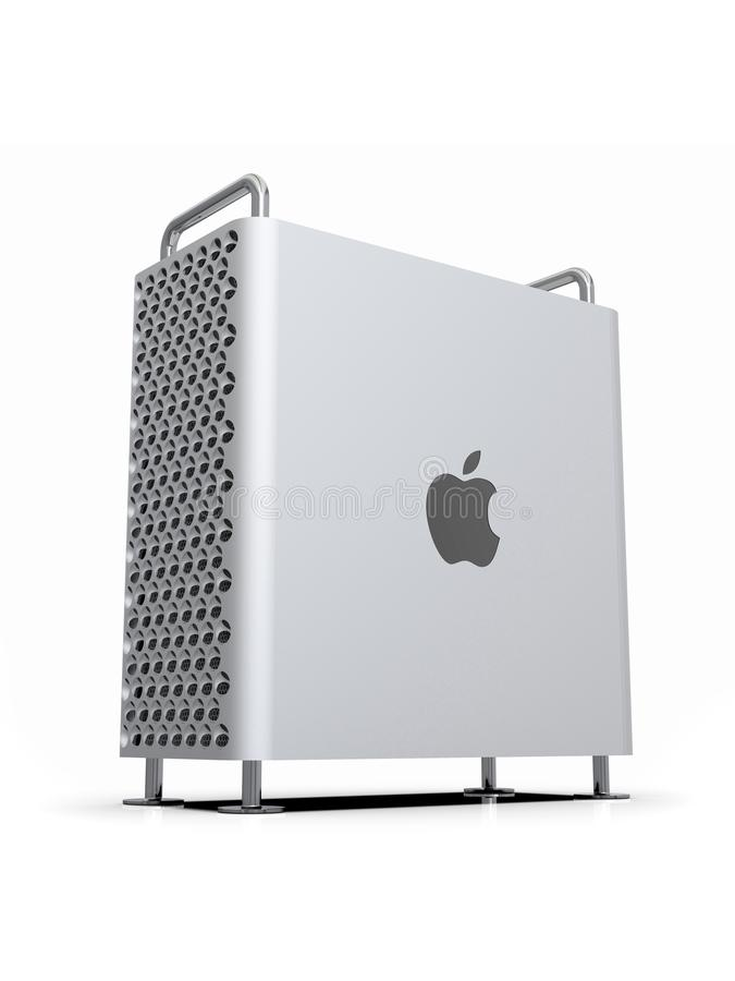 Apple Mac Pro 2019 skrivbords- dator, dynamisk lodlinje royaltyfri illustrationer