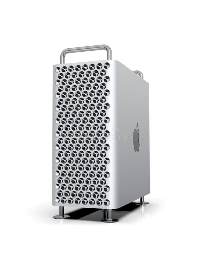 Apple Mac Pro 2019 skrivbords- dator, dynamisk lodlinje vektor illustrationer