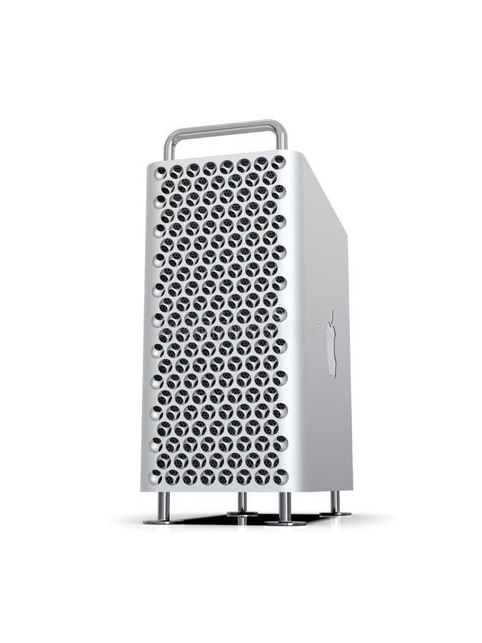 Apple Mac Pro 2019 skrivbords- dator, dynamisk lodlinje stock illustrationer