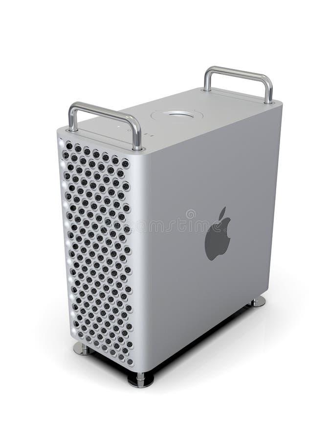 Apple Mac Pro 2019 skrivbords- dator, lodlinje för hög vinkel royaltyfri illustrationer