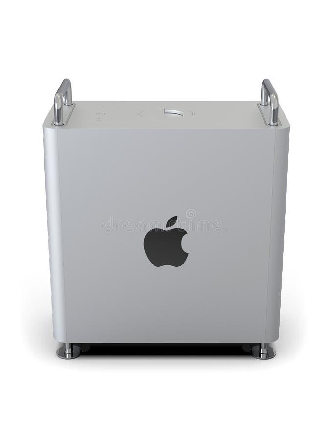 Apple Mac Pro 2019 skrivbords- dator, lodlinje för hög vinkel stock illustrationer