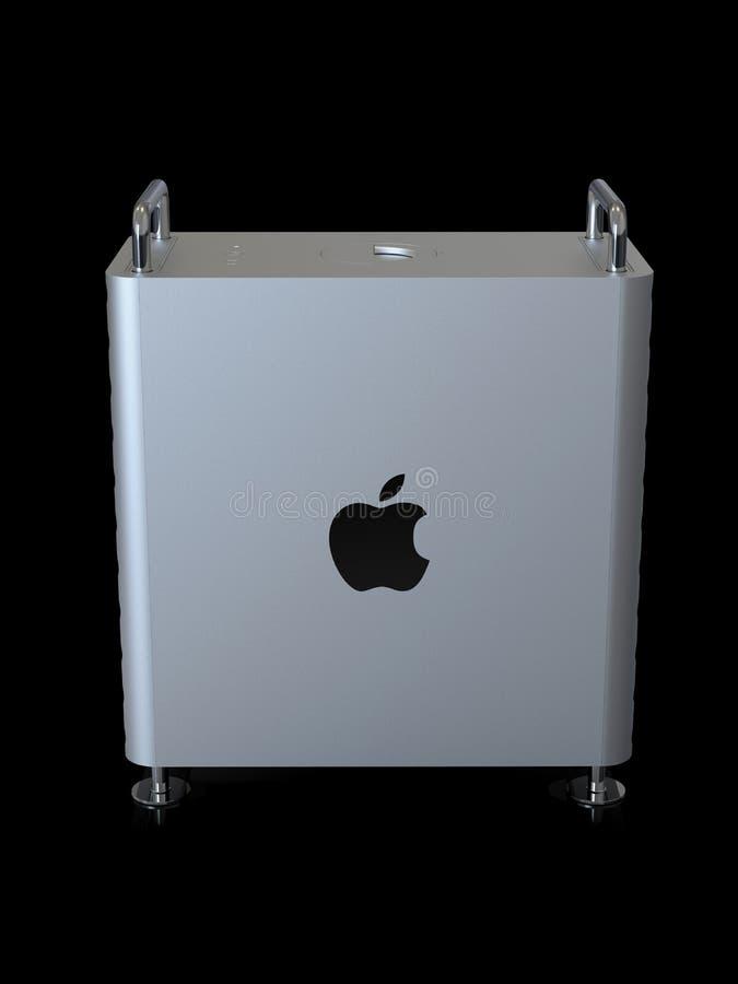 Apple Mac Pro 2019 skrivbords- dator, sidolodlinje vektor illustrationer