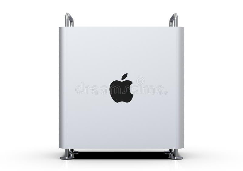 Apple Mac Pro 2019 skrivbords- dator som är sido stock illustrationer