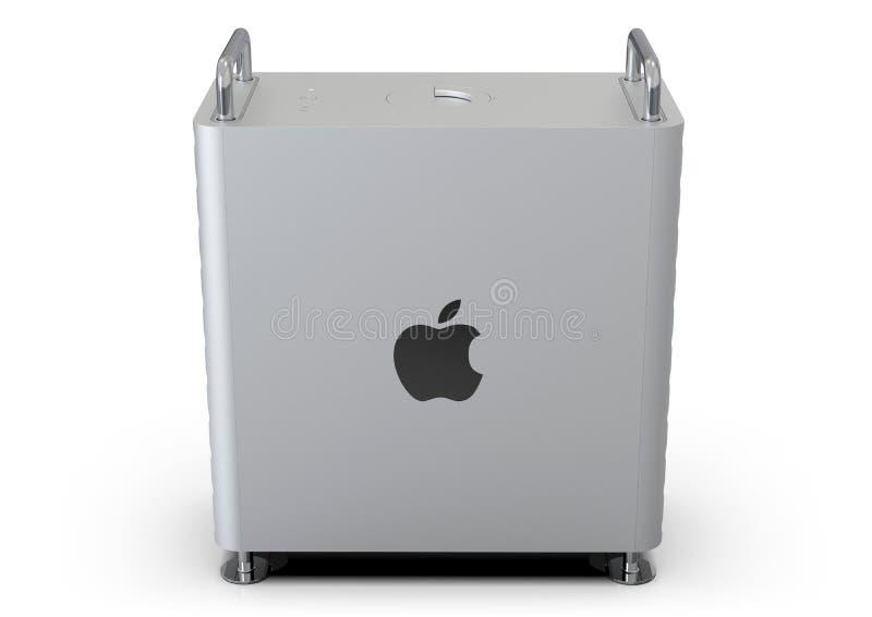 Apple Mac Pro 2019 skrivbords- dator som är sido vektor illustrationer