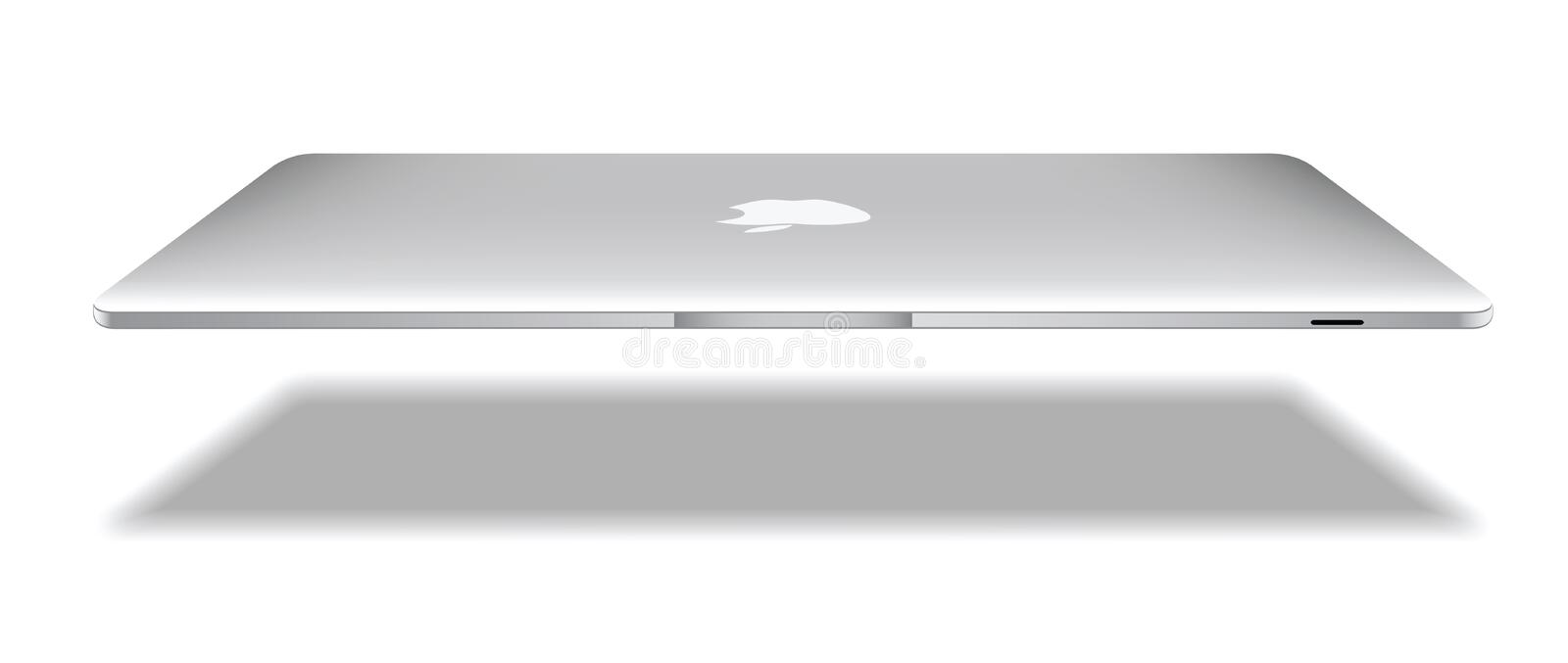 Apple macbook air royalty free illustration