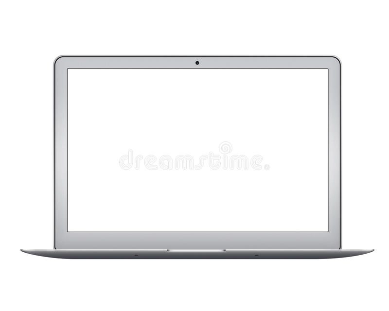 Apple MacBook Air notebook computer mockup stock photography