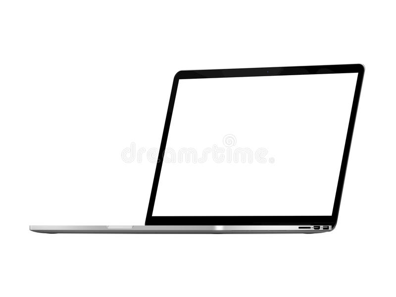 Apple Macbook Pro Retina. Laptop Open, ready for screen replacement royalty free stock images