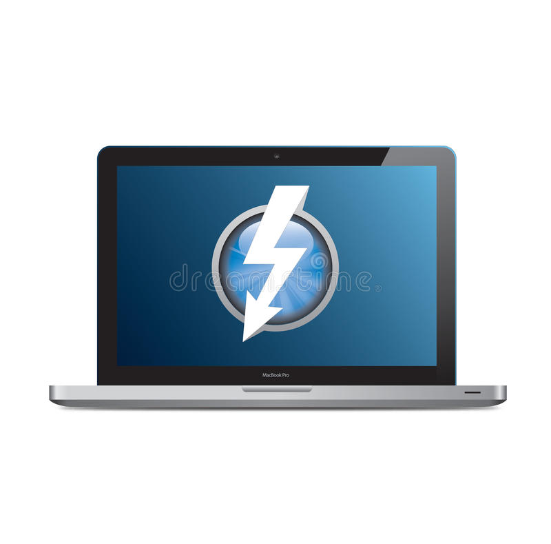 Download Apple MacBook Pro With Thunderbolt Logo On Screen Editorial Photography - Image: 20597802