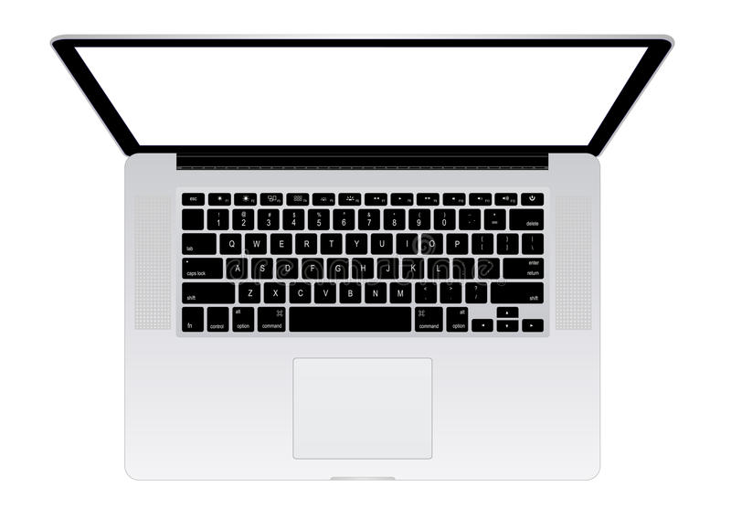 Apple macbook pro royalty free illustration