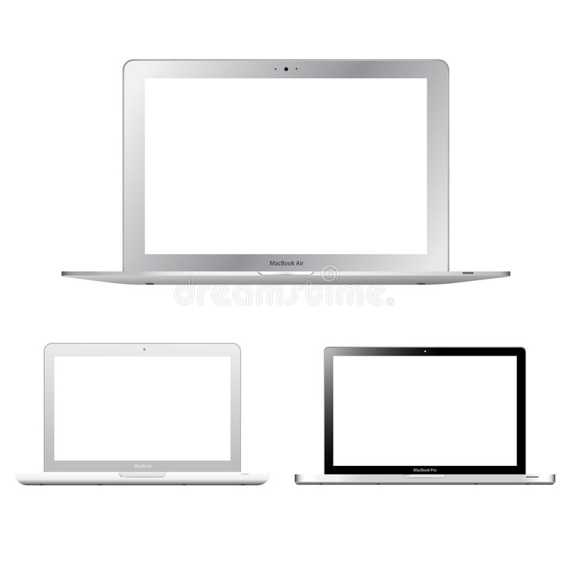 Apple MacBook Series vector illustration