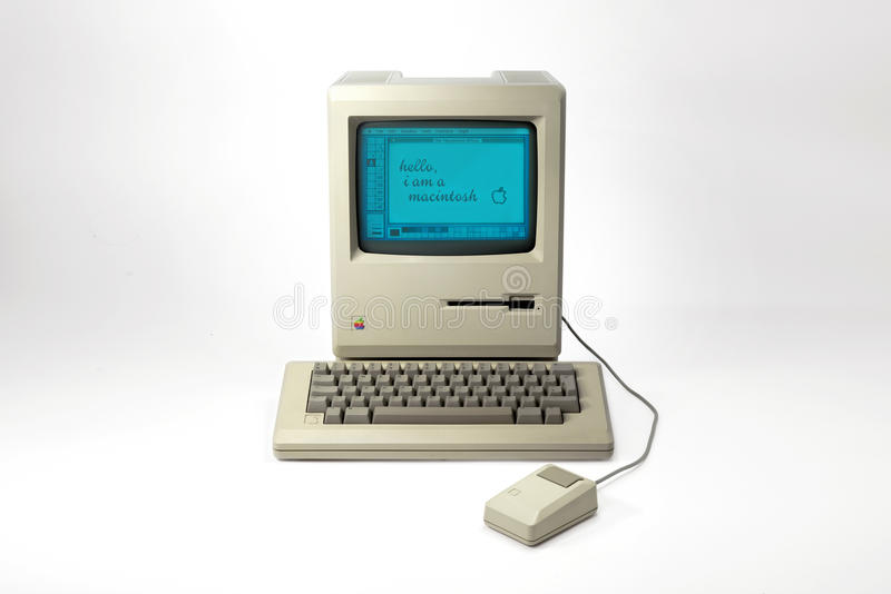 Apple Macintosh 128k stockbilder