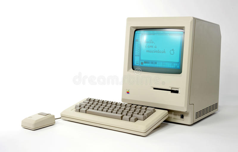Apple Macintosh 128k foto de stock royalty free