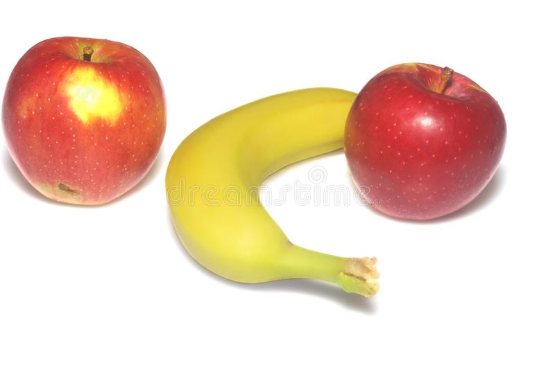 Download Apple macintosh and banana stock image. Image of isolated - 6706517