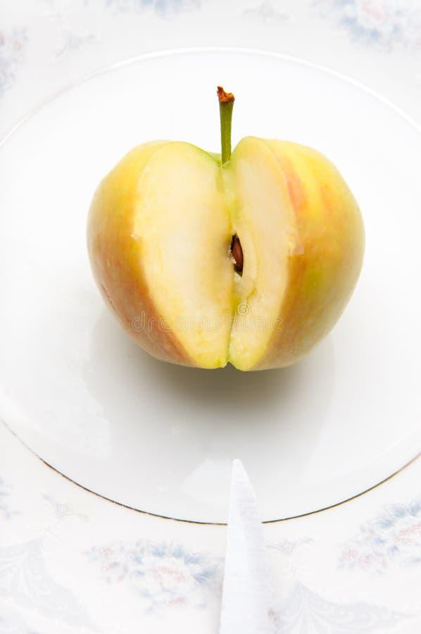 Apple-Mahlzeit lizenzfreie stockbilder