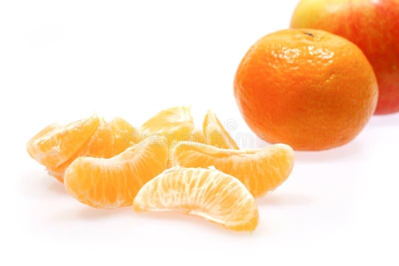 Apple and mandarines royalty free stock photos