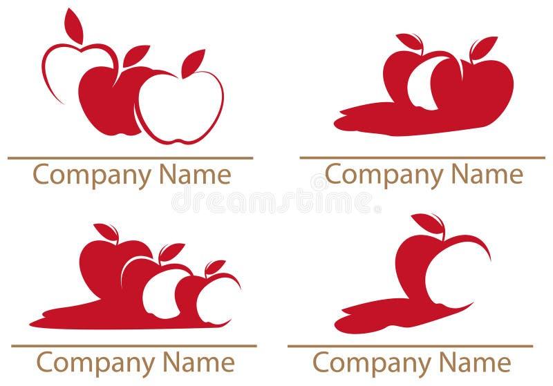 Apple, manzanas stock de ilustración