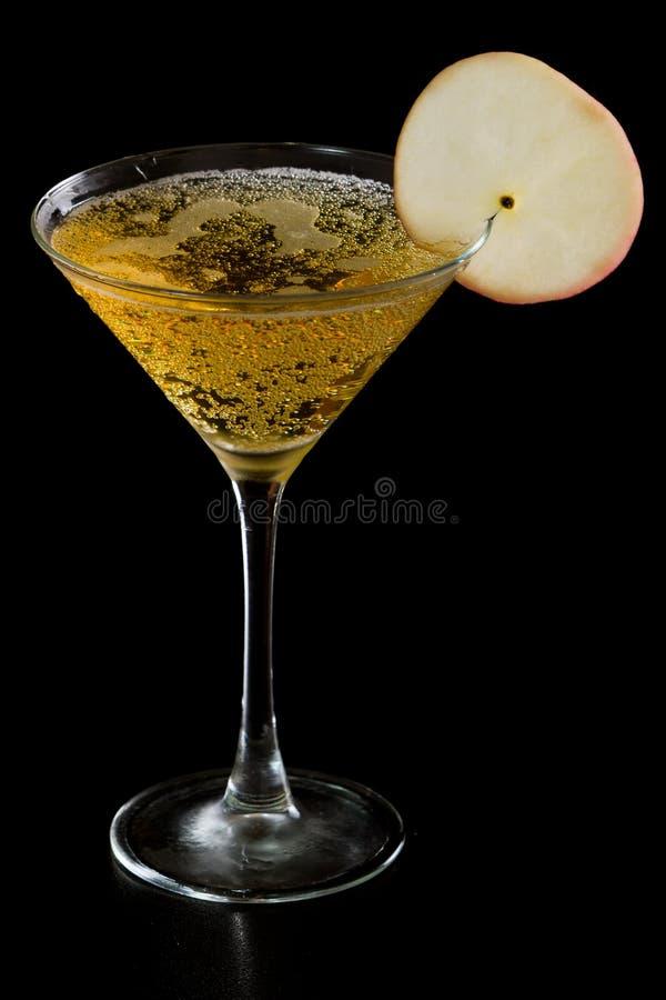 Apple martini royaltyfri foto