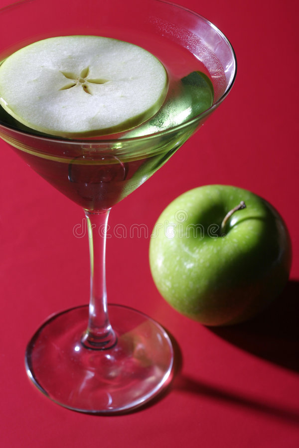 Apple Martini lizenzfreies stockfoto
