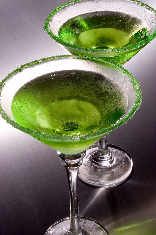 Apple Martini verde foto de stock