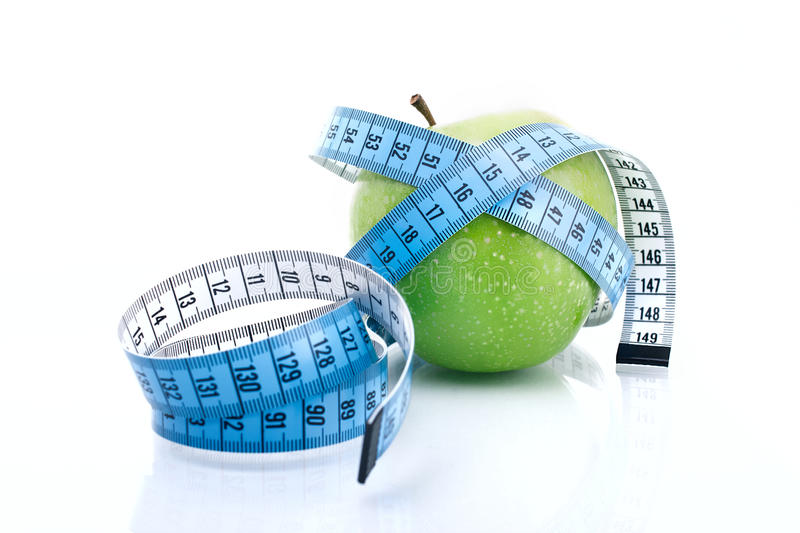 Download Apple with measure tape stock image. Image of measurement - 29198457