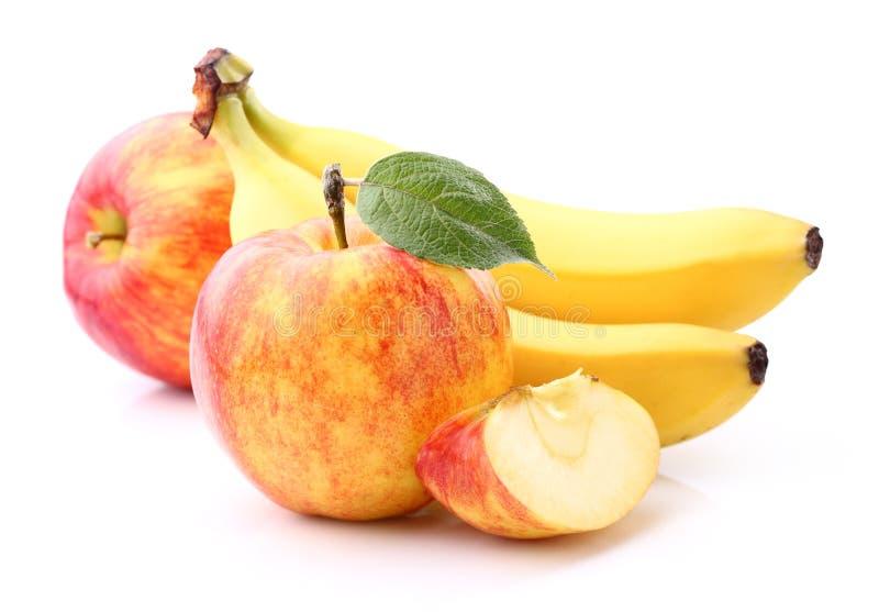 Apple met banaan royalty-vrije stock fotografie
