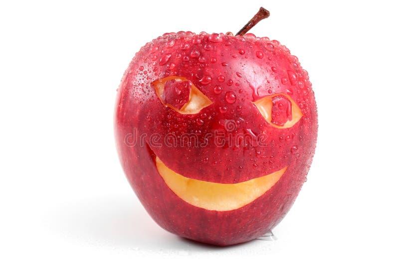 Apple met glimlach royalty-vrije stock foto's