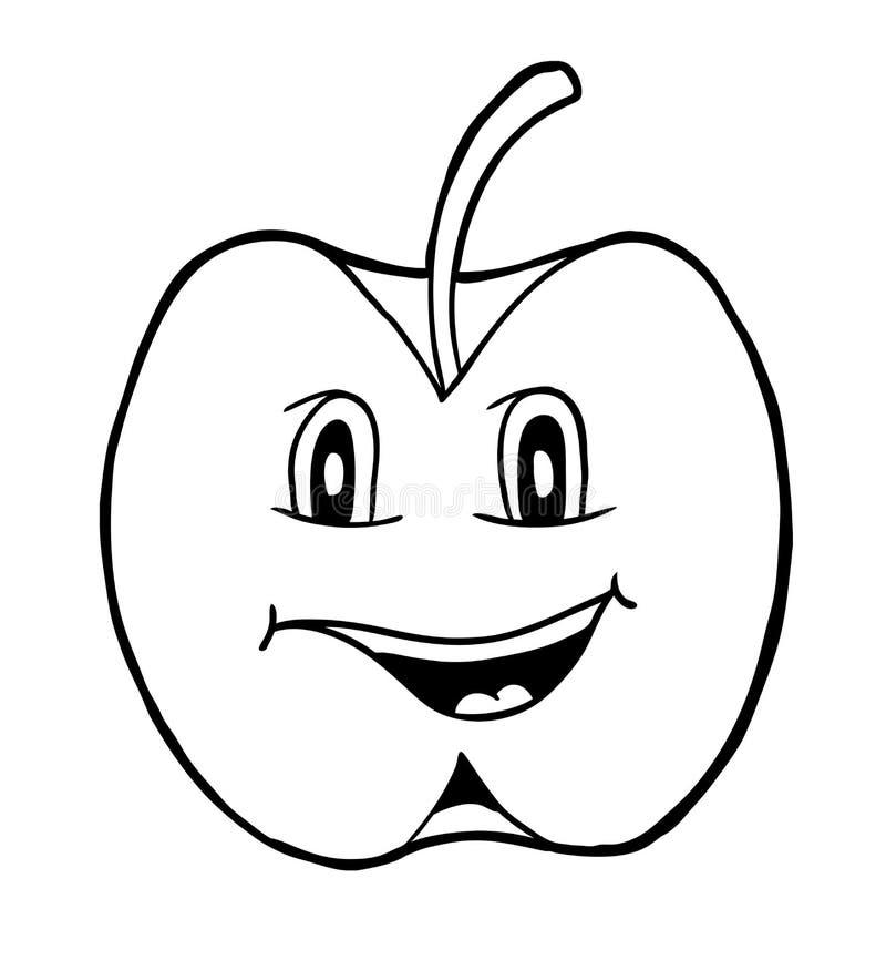 Apple met glimlach vector illustratie