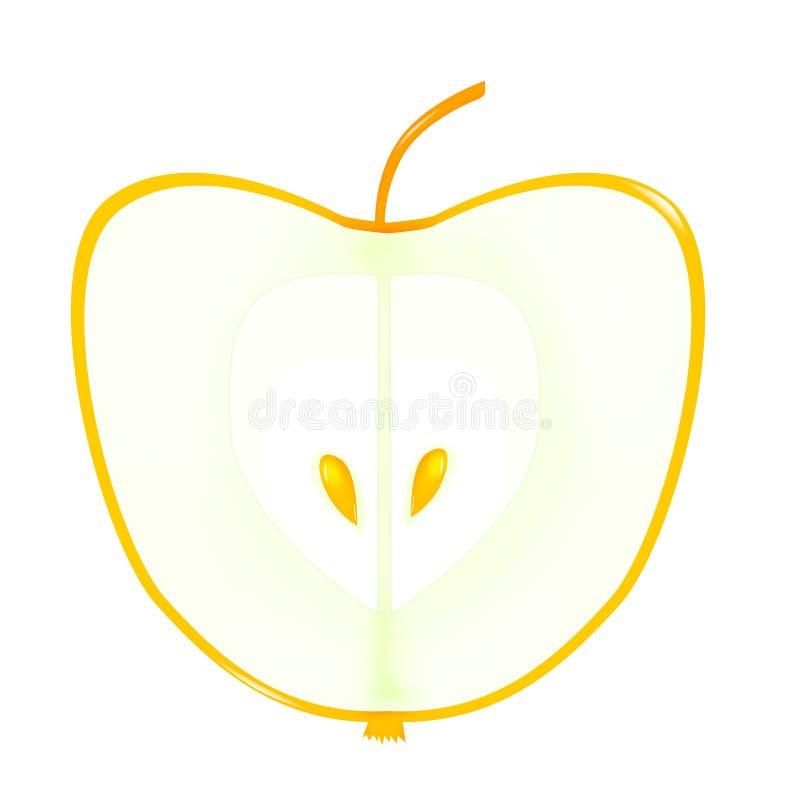 Apple met gouden zaden vector illustratie