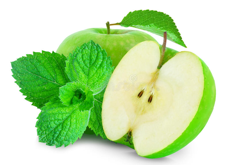 Apple and mint stock image