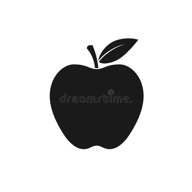 Apple mit Blatt Grafische Ikone vektor abbildung